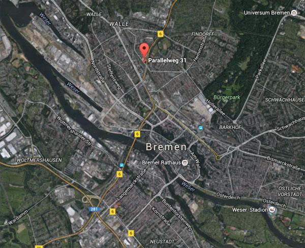 Neuer Standort direkt am Fernsehturm in Bremen.